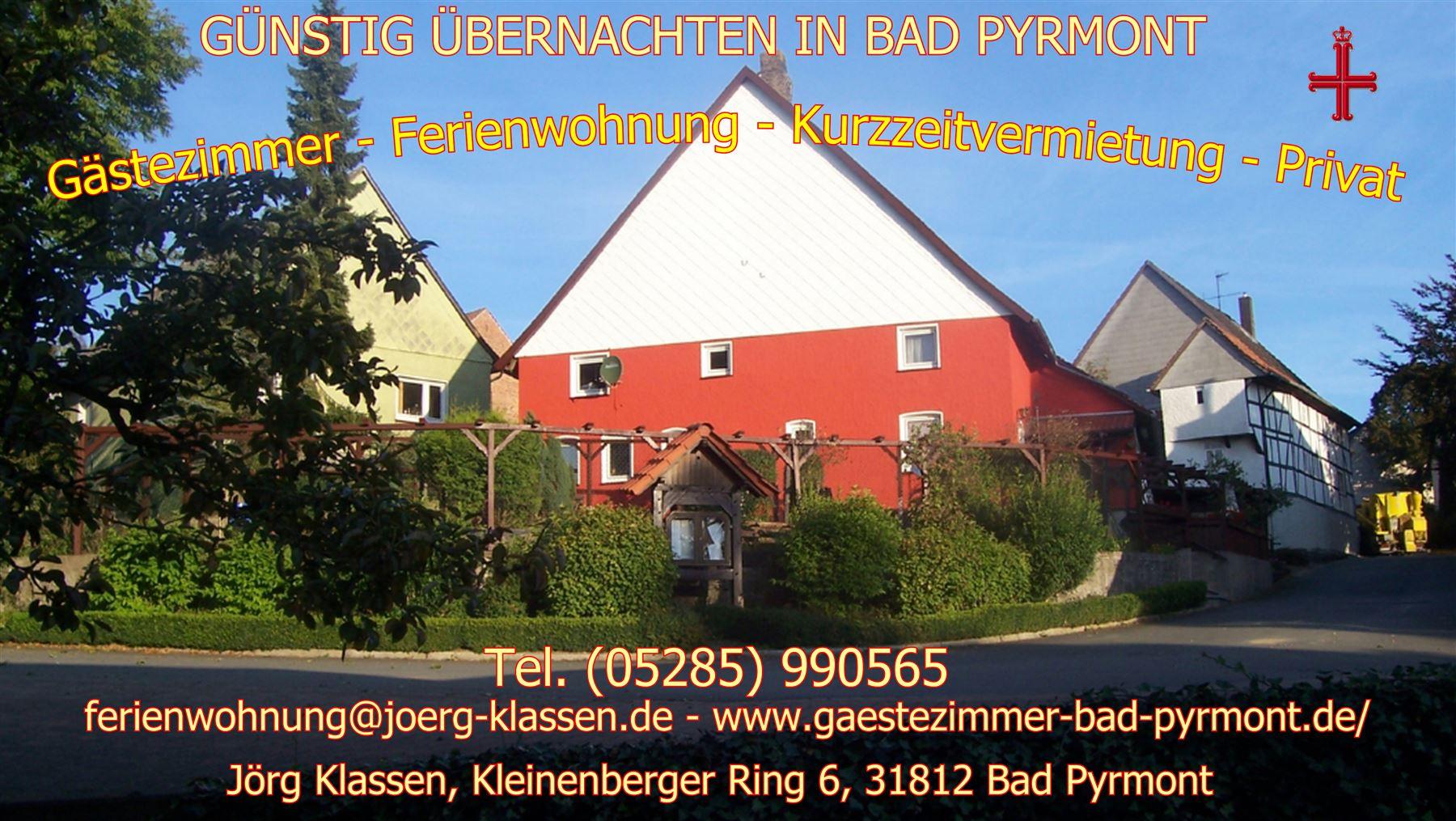 G�stezimmer Unterkunft in Bad Pyrmont